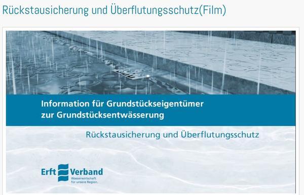 Rückstausicherung und Überflutungsschutz